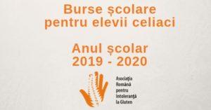 Burse pentru școlarii cu boală celiacă, an școlar 2019-2020