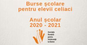Burse pentru școlarii cu boală celiacă, an școlar 2020-2021